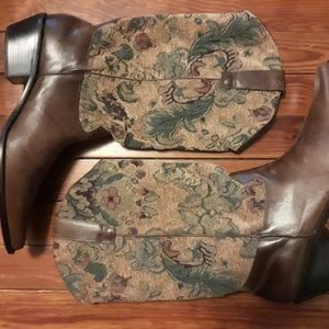 Matisse Brown Leather Tapestry Boots
